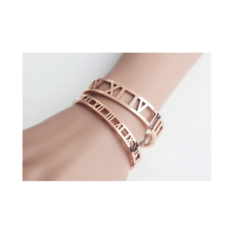 Roman Numeral Bangle Bracelet 7mm Detail De Mode