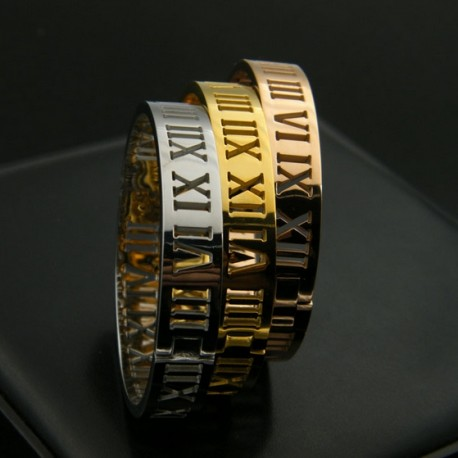 Roman Numeral Bangle Bracelet 10mm Detail De Mode
