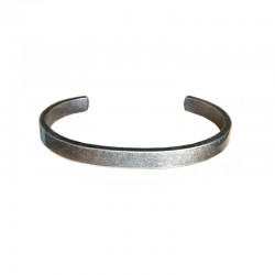 vintage Steel Bracelet - Men's flat cuff Bangle