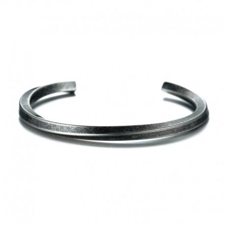 Bracelet Acier effet vielli - Jonc torsadé pour homme
