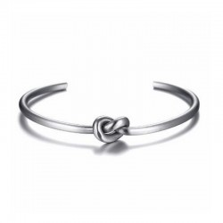 Knot Steel Bracelet - Men's cuff Bangle