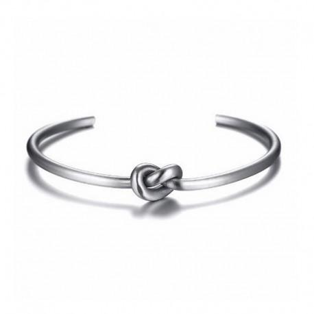 Knot Steel Bracelet - Men's cuff Bangle