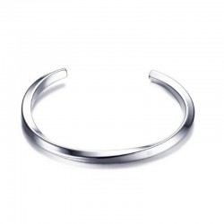 Bracelet Acier - Jonc torsadé pour homme