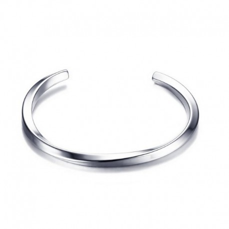 Stainless steel Bracelet - Twisted Men's cuff Bangle