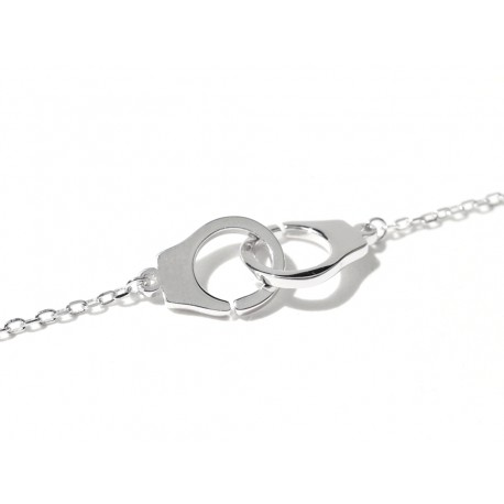 Handcuff bracelet in silver 925. Handcuffs woman