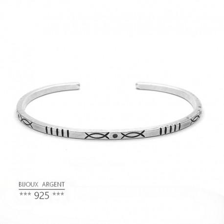 925 Sterling Silver Bangle - Indian Ethnic Bracelet - Men's Jewelry