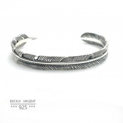 925 Sterling silver triangle shaped bracelet nugget raw - Men's jewelery