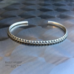 925 Sterling Silver Bangle - Indian Ethnic Bracelet - Men's Jewelry
