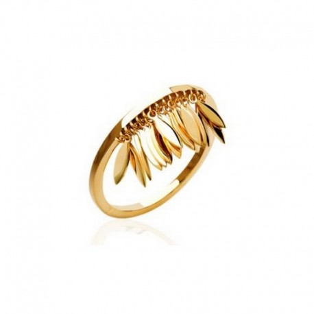 Gold-plated tassel ring - L'INDIENNE
