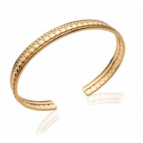 Double row gold plated Bangle Bracelet - L'ELEGANTE