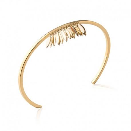 Bracelet pampille jonc fin plaqué or - L'INDIENNE