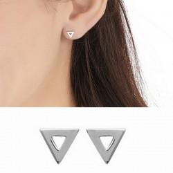 Boucles d'oreilles puces triangles ajourés argent 925