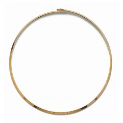Collier ras de cou cercle rigide plaqué or