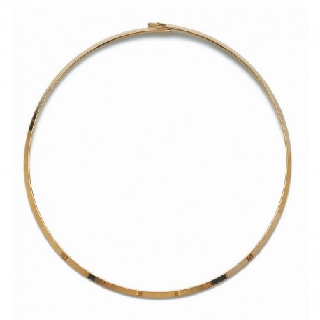Gold Plated Rigid Circle Choker Necklace