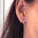 Boucles d'oreilles cornes en argent massif 925 - NINA - Puces d'oreilles, boucles d'oreille lune, boucles d'oreilles croissant