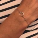 Bracelet chaîne et petite corne en argent 925 - NINA
