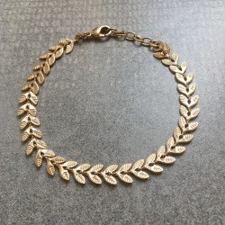 Gold Plated Laurel Leaf bracelet - LAURIER