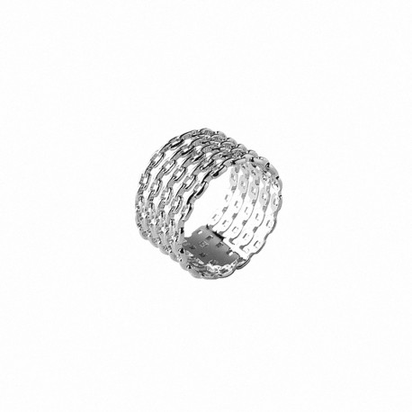 Large five rings ring in 925 silver - Bazar Chic - multi rings ring, accumulation,