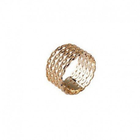 Large five rings ring gold plated - Bazar Chic - multi rings ring, accumulation,