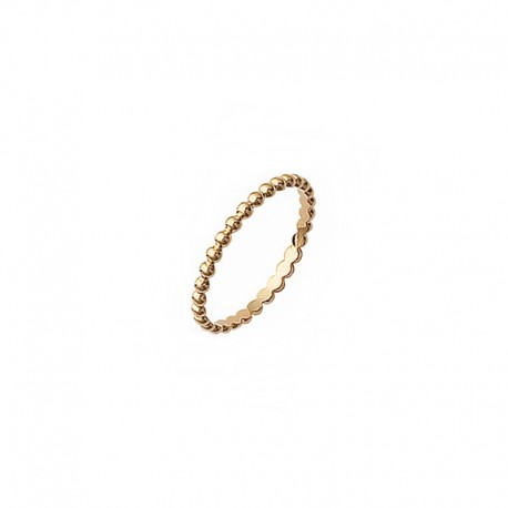 Gold plated ring, stackable ring, fine ring, phalanx ring, ball ring - BAZAR CHIC - Dainty ring, tiny ring