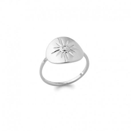 925 silver sun ring with zirconia - BAZAR CHIC - Solar, celestial, star