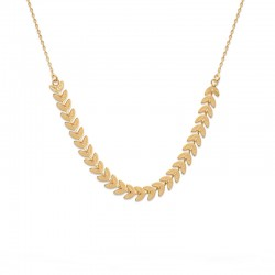 Gold plated laurel leaf chain necklace - LAURIER