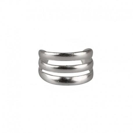 Ear cuff, 925 silver triple ring - Fake piercing, , ear clips, non pierced, earwraps
