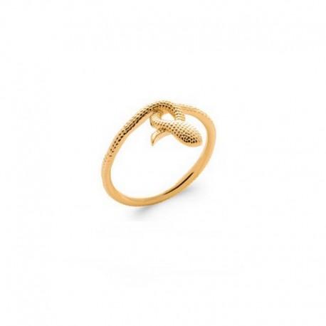 18K Gold Plated Interlaced Snake Ring - SNAKE -