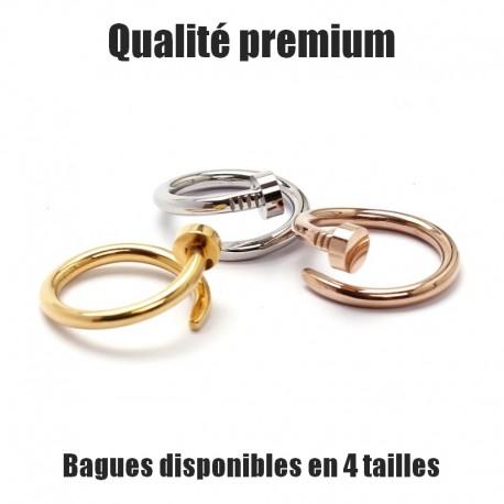 """Bague """"CLOU LUXE"""" Argent, Or, Or rose (nail spike bijou love clous acier)"""