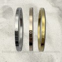 """Bracelet """"Love Me"""" Stainless steel width 4mm, silver, yellow gold, pink gold - Fake screw"""