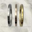"Bracelet Jonc ""Love Me"" Acier inoxydable 4mm , argent, or jaune, or rose - Vis factice"