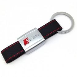 Porte Clés Cuir Audi S-Line A1 A3 A4 A5 A6 TT Q3 Q5 Q7 Sline (clef clefs clé)