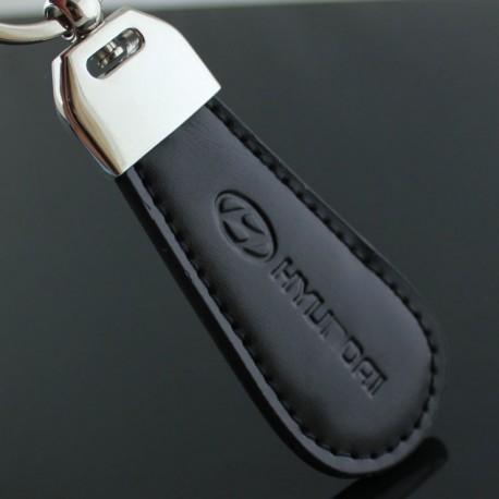 Porte clés HYUNDAI / Top design (Simili cuir et surpiqûre - I20 I30 Santa Fe)