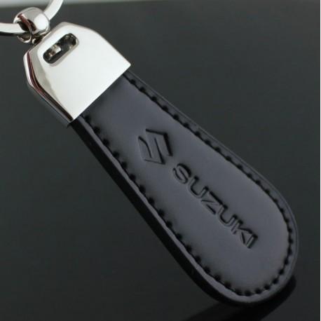 SUZUKI key chain / Top design (Leatherette with stitching - Swift Vitara GSX-R)