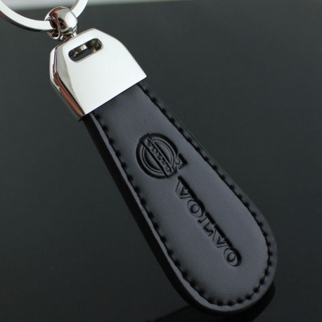 Volvo key chain / Top design (Leatherette with stitching)
