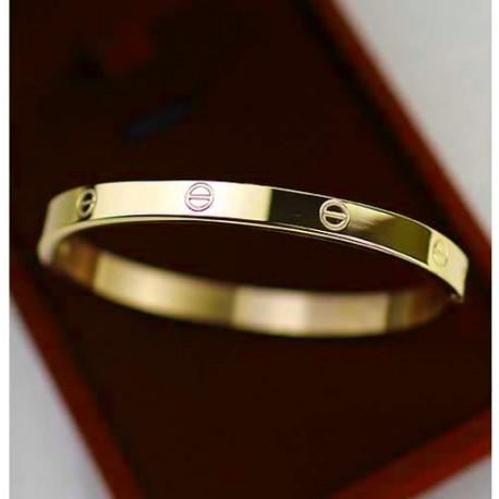 "Bracelet bangle ""Love Me"" silver, gold or pink gold plated"