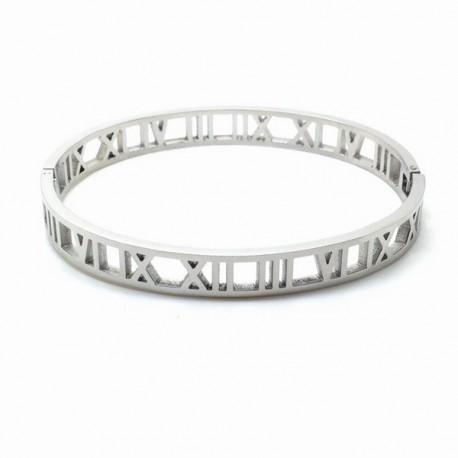 Roman numeral bangle bracelet 7mm