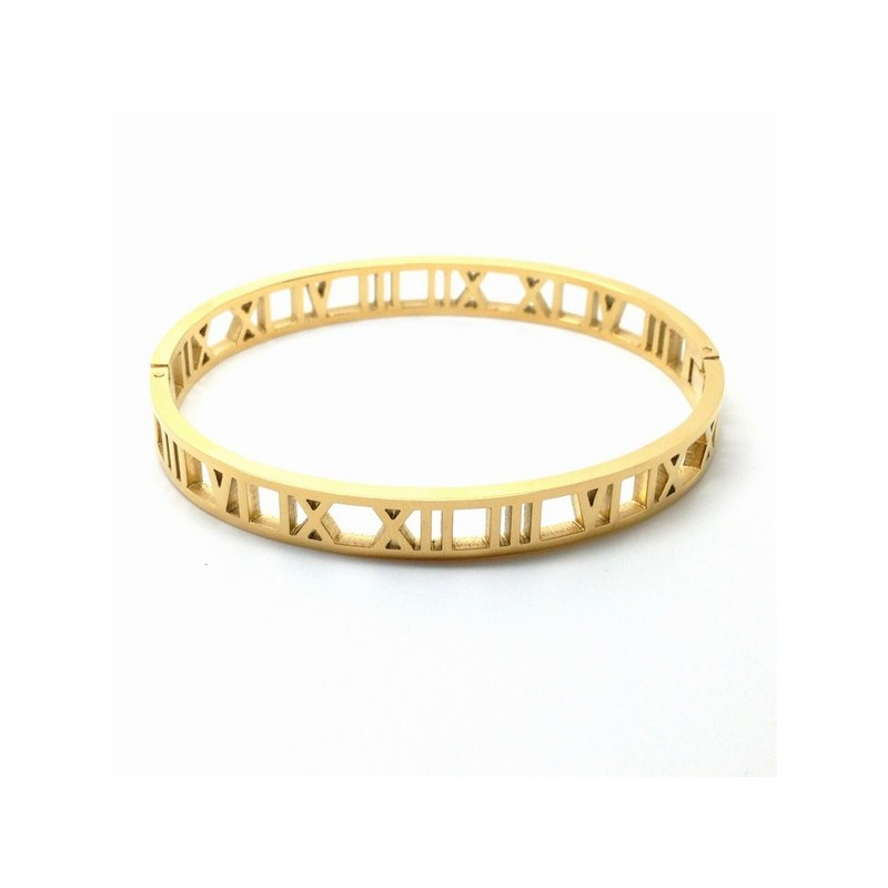 Roman Numeral Bangle Bracelet 7mm Detail De Mode