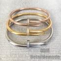 "Bracelet ""Nail luxury + Strass"" silver, gold, Pink gold"