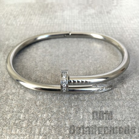 "Bracelet ""CLOU LUXE STRASS"" argent, or, or rose (love Bracciale nail)"