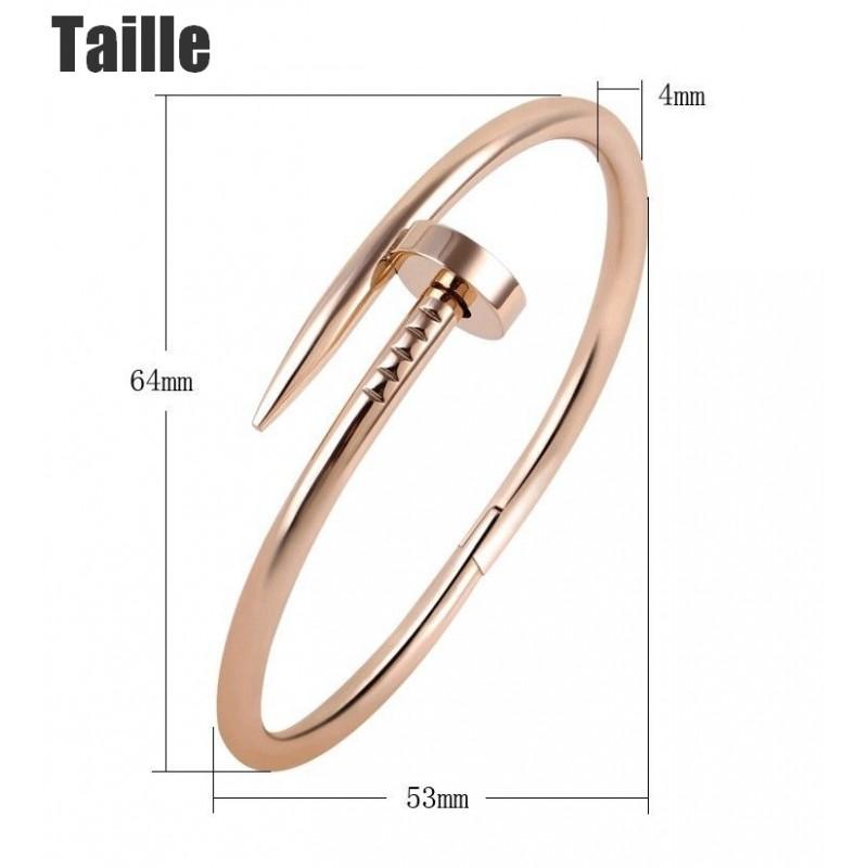 Bracelet Clou Luxe Strass en Titanium