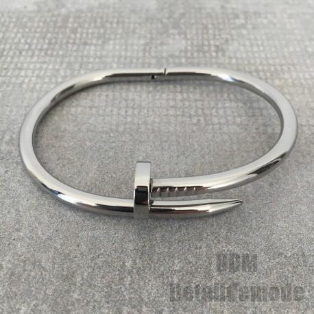 "Bracelet ""Nail premium version"" silver, gold, Pink gold (2 sizes man or woman)"