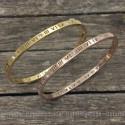 Roman numeral bangle bracelet 4mm